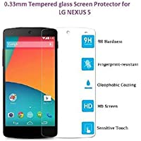 SNOOGG LG Nexus 5X Full Body Tempered Glass Screen Protector [ Full Body Edge To Edge ] [ Anti Scratch ] [ 2.5D...