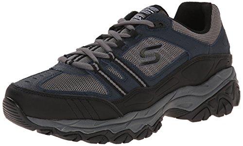 Skechers Sport Men's Afterburn Strike Memory Foam Lace-Up Sneaker, Navy/Gray, 9.5 4E US