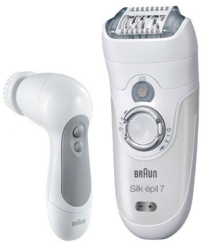 Braun Silk-épil 7 SkinSpa 7569 - Depiladora Wet & Dry sin cable con 6 extras + Cepillo Exfoliante para la cara
