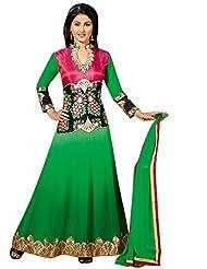 Vibes Designer Pure Georgette Unstiched Dress Materials,Free Size,Green,V209-6002