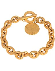 The Jewelbox Italian Multi Link 18K Gold Plated Surgical Stainless Steel Bracelet For Men