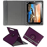 "Generic 360° Rotating 7"" Inch Tablet Leather Flip Case Cover Book Cover With Stand For Asus Nexus 7 (2012) -Purple"
