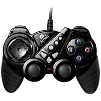 Dual Shock Wired USB Gamepad Controller For PC With Gripped Joysticks Ergonomic Design Vibration Force Feedback... - B00S879F7Q