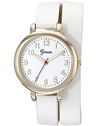 Geneva Women's 2438A-GEN Analog Display Analog Quartz White Watch
