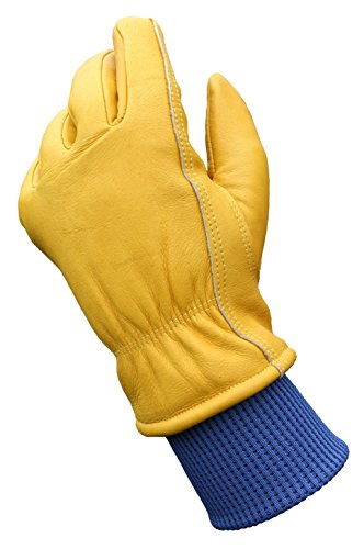 Wells Lamont Water Resistant Very Warm Leather Work Gloves