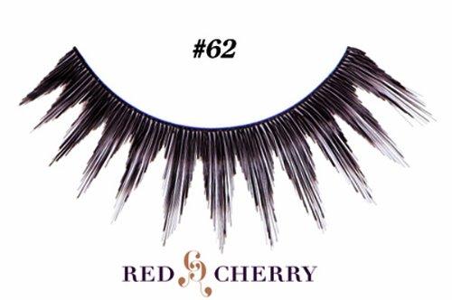 Red Cherry False Eyelashes (Pack of 10 pairs) (62)