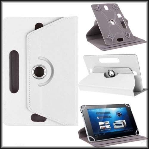 """Hello Zone Exclusive 360° Rotating 7"""" Inch Flip Case Cover Book Cover For Asus NEXUS7 ASUS-1B32 Tablet -White"""