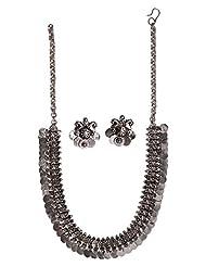 Ballerina's Antique Oxidized Jewelry Necklace Earing Set (BsAOJNES007)