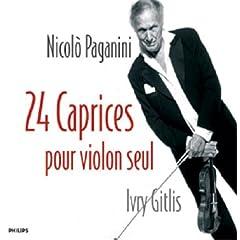 ギトリス独奏 Paganini : 24 Caprices Pour Violon SeulのAmazonの商品頁を開く