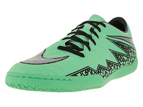 Nike Men's Hypervenom Phelon II IC Green Glow/Metallic Silver/Hyper Orng/B Indoor Soccer Shoe 8.5 Men US