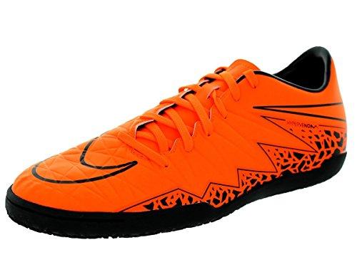 Nike Men's Hypervenom Phelon II IC Total Orange/Ttl Orng/Blk/Blk Indoor Soccer Shoe 9 Men US