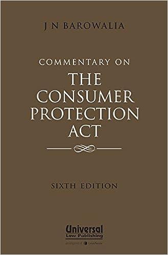 Consumer Protection Act by J N Barowalia
