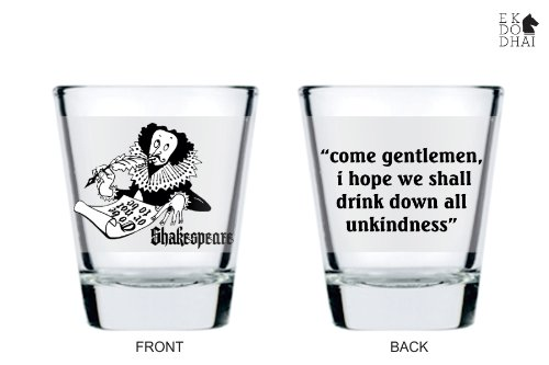 Shakepeare Shot Glass By Ek Do Dhai [set Of 2]