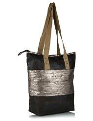 Home Heart Women's Eco Friendly Tote Bag (Silver/Black) - B00KG7W9MY
