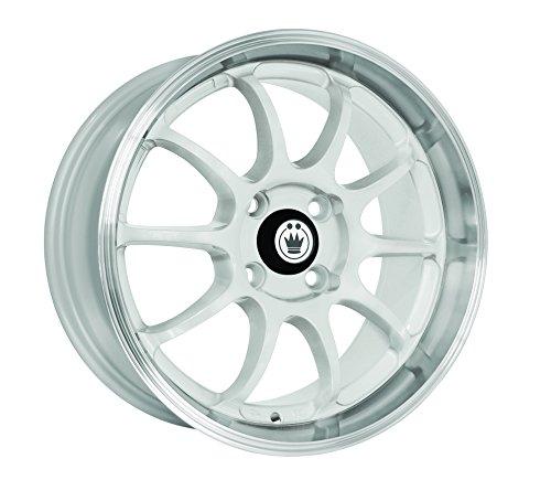 Konig Lightning White Wheel with Machined Lip (17×7″/4x100mm)