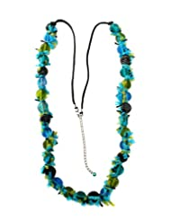 Chic Collection Fabric & Glass Beads Necklace For Women