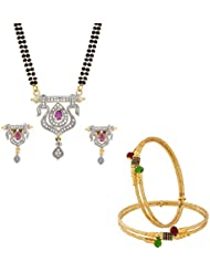The Luxor Gold Plated Multicolor Fashionable Combo Set For Women