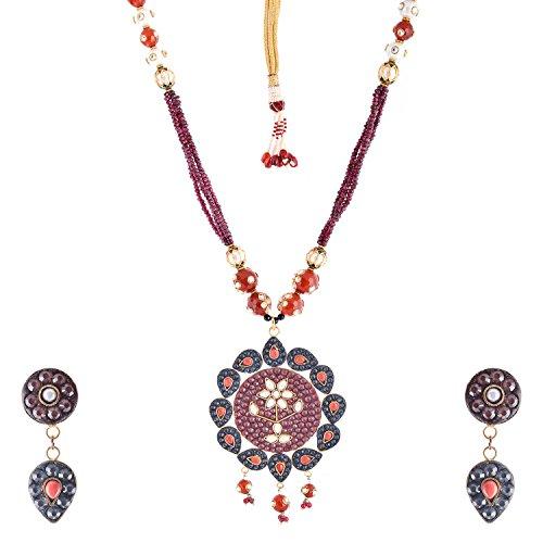 Bharat Sales Style Diva Multi Alloy Necklace Set For Women - B00YPASQ7K