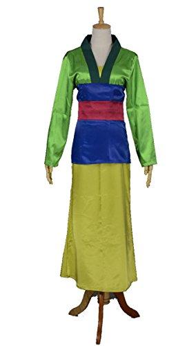 Halloween 2017 Disney Costumes Plus Size & Standard Women's Costume Characters - Women's Costume CharactersMulan Cosplay Costume Hu Mulan Green Dress - Custom Sizes - Made-to Order