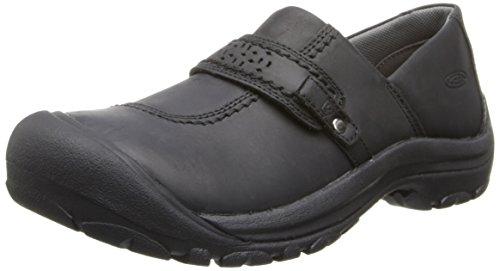 KEEN Women's Kaci Full Grain Slip-On Shoe,Black,6 M US