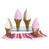 Sophias Ice Cream Cone 8 Pc. Set For 18 Inch Pretend Play For Dolls, Includes 4 Ice Cream Cones & 4 Paper Napkins...