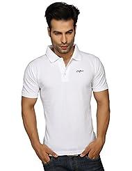 Clifton Men's Plain Polo T-Shirt White(XXL)