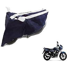Auto Hub Black White Bike Body Cover For Bajaj Discover 135