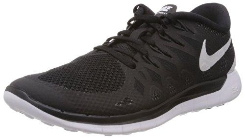 Nike - Zapatillas de running Free 5.0, unisex, Negro (Black/White-Anthracite), 42