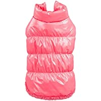 Imported Pet Dog Puppy Cat Warm Padded Coat Down Jacket Vest Clothes Apparel Pink 3XL