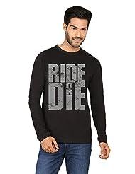 Ride Or Die Black Full Sleeve T-shirt