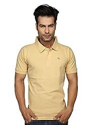 Clifton Men's Plain Polo T-Shirt Beige(L)