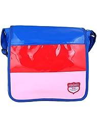 Super Drool Multi Stripe Blue Sling Bag