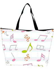 Snoogg Music Alphabets Designer Waterproof Bag Made Of High Strength Nylon