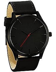 Zillion Signature Classic Black Dial Black Strap Analog Watch For Men