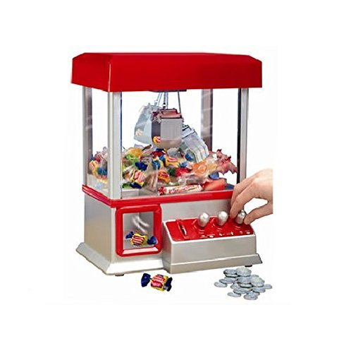 Electronic Arcade Claw Machine - Toy Grabber Machine With Flashing LED Lights and Sound