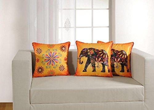 "Swayam Deco Printed Vibrant Color 5 Piece Cushion Cover Set - 16""x16"", Multicolor (DCC165-1152)"