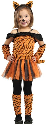 Girl's Tiger Halloween Costume
