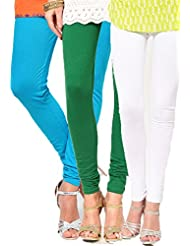 Castle Women's Leggings (Pack Of 3) (Multi_Free Size) - B00RBN6EJU