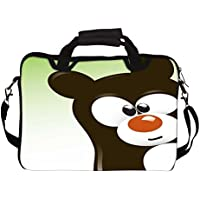 """Snoogg Funny Cartoon Bear 10"""" 10.5"""" 10.6"""" Inch Laptop Notebook SlipCase With Shoulder Strap Handle Sleeve Soft..."""