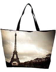 Snoogg Wonder Of The World Designer Waterproof Bag Made Of High Strength Nylon