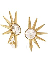 The Jewelbox Large American Diamond Gold Plated Ear Cuff Pair Earring For Women