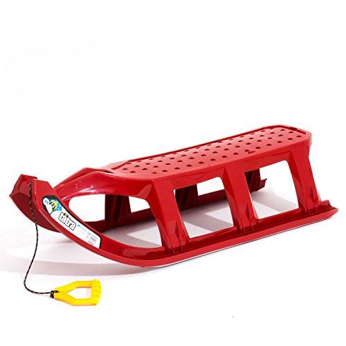 Rodel Long Schlitten Kinderschlitten XXL Sitzfläche TATRA rot 110 cm
