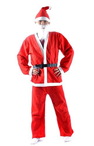 AnCroSh 子どもも喜ぶ 大人用 サンタクロース メンズ コスプレ ハロウィン 衣装 仮装 フルセット