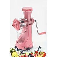 Active Hand Fruit Juicer Vegetable Mixer Grinder Only By With Primelife Seller(Pink Color)