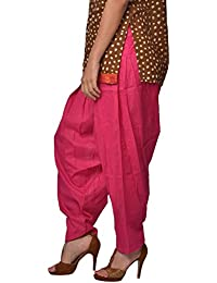 Style And Culture Women's Ethnic Comfort Fit Stylish And Elegant Pink Color Semi Patiala Cotton Salwaar.