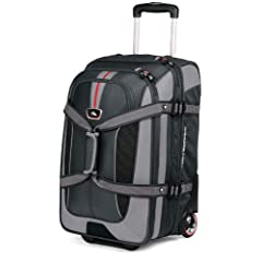 High Sierra AT656 Carry On Expandable Wheeled Duffel with Backpack Straps (Graystone/Shadow/Black)