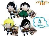 Shingeki no Kyojin / Attack on Titan Anime Plush Doll Set 4 pcs 4