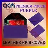 PREMIUM POUCH PURPLE LEATHER CARRY CASE For ASUS ZENFONE 3 MAX ZC520TL COVER