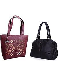 Arc HnH Women HandBag Combo - Elegant Red Handbag + Blossom Maroon