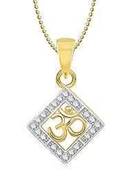 Om Pendants Lockets With Chain In Pendants & Lockets For Men Women In American Diamond Cz Jewellery Gifts Gold... - B014UTFKEM